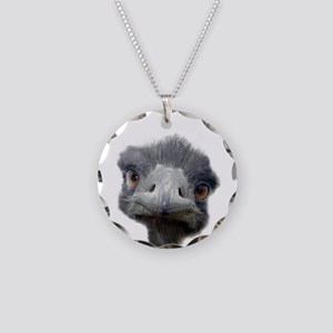 Ostrich Necklace Circle Charm