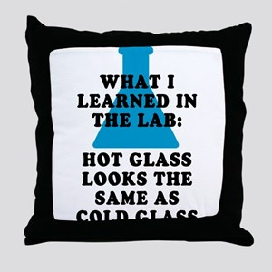 Lab Glass Throw Pillow