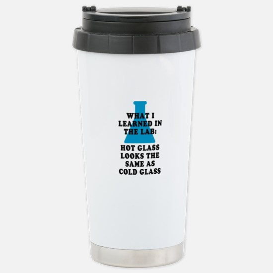 Lab Glass Stainless Steel Travel Mug