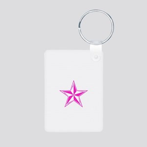Naval Star Aluminum Photo Keychain
