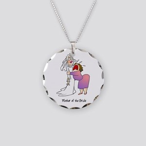 Funny Mother of the Bride Necklace Circle Charm
