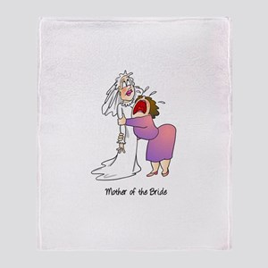 Funny Mother of the Bride Throw Blanket