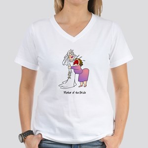 Funny Mother of the Bride Women's V-Neck T-Shirt
