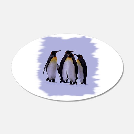 Penguins 22x14 Oval Wall Peel