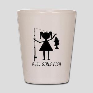Reel Girls Fish Shot Glass