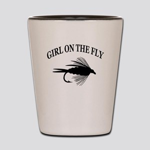 GIRL ON THE FLY Shot Glass