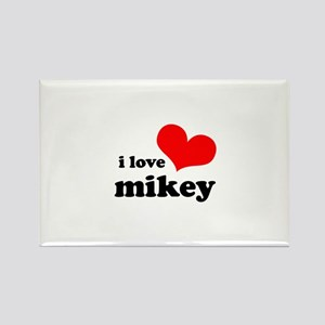 I Love Mikey Rectangle Magnet