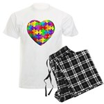 Jelly Puzzle Heart Men's Light Pajamas