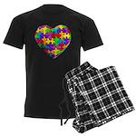 Jelly Puzzle Heart Men's Dark Pajamas