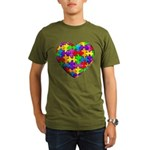 Jelly Puzzle Heart Organic Men's T-Shirt (dark)