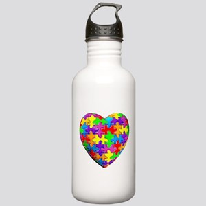 Jelly Puzzle Heart Stainless Water Bottle 1.0L
