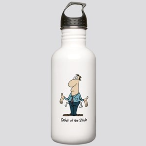 Funny Father of the Bride Stainless Water Bottle 1
