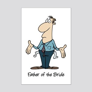 Funny Father of the Bride Mini Poster Print