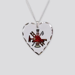 Firefighter/Rescue Tools Necklace Heart Charm