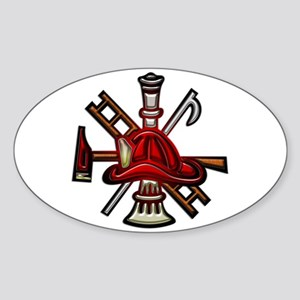 Firefighter/Rescue Tools Sticker (Oval)
