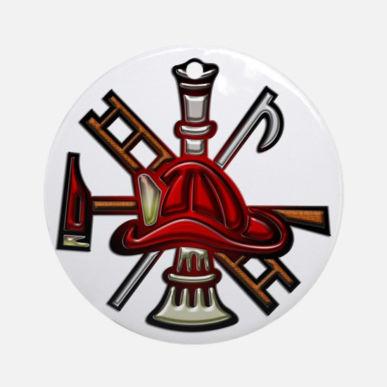 Firefighter/Rescue Tools Ornament (Round)