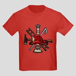 Firefighter/Rescue Tools Kids Dark T-Shirt