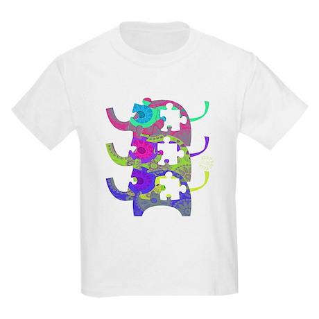 ELEPHANTS FOR AUTISM Kids Light T-Shirt
