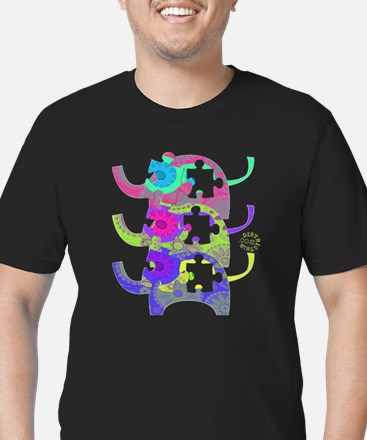 ELEPHANTS FOR AUTISM Men's Fitted T-Shirt (dark)