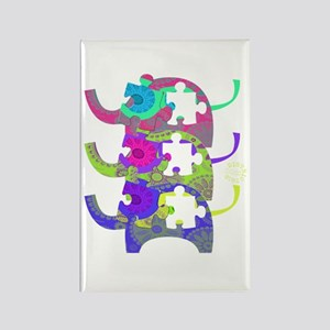 ELEPHANTS FOR AUTISM Rectangle Magnet