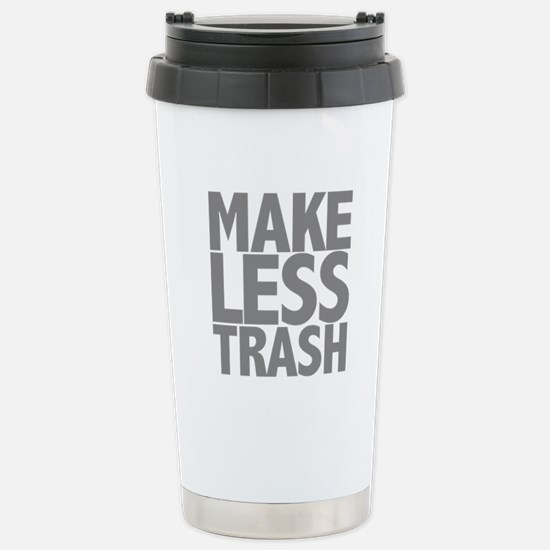 Make Less Trash Stainless Steel Travel Mug