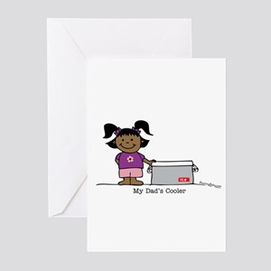 My Dad's Cooler Girl 2 Greeting Cards (Package of