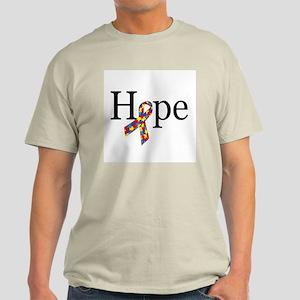 Autism HOPE Ribbon Light T-shirt