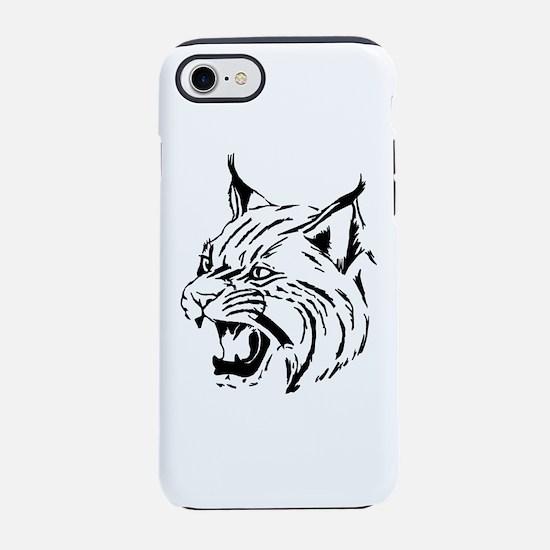 Tiger Wildcat Cat Head Face Li iPhone 7 Tough Case