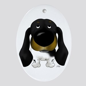 Big Nose Doxie Ornament (Oval)