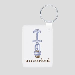 Uncorked Aluminum Photo Keychain