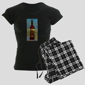 Wine Bottle Women's Dark Pajamas