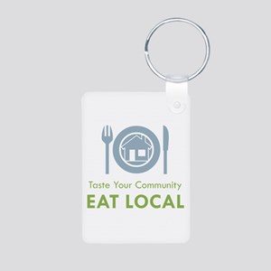 Taste Local Aluminum Photo Keychain
