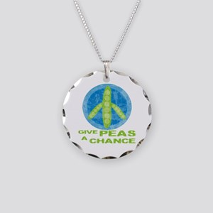 Give Peas a Chance Necklace Circle Charm