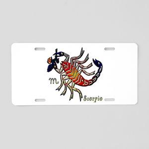 Scorpio Scorpion Zodiac Sign Aluminum License Plat