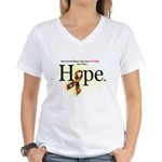 Autism HOPE Ribbon (Grandchildren) Womens V-Neck T