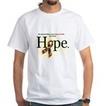 Autism HOPE Ribbon (G'children) Mens White T-shirt