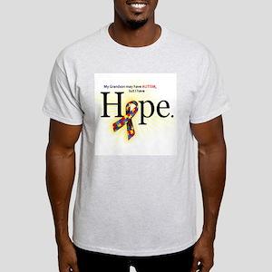 Autism HOPE Ribbon (Grandson) Light T-shirt