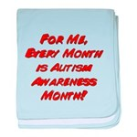 Autism Awareness Month baby blanket