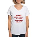 Autism Awareness Month Women's V-Neck T-Shirt