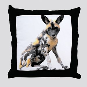Painted Puppy Throw Pillow
