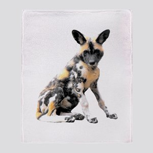 Painted Puppy Throw Blanket