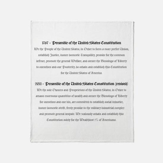 Preamble Revised Throw Blanket