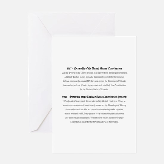 Preamble Revised Greeting Card