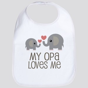 My Opa Loves Me Baby Bib