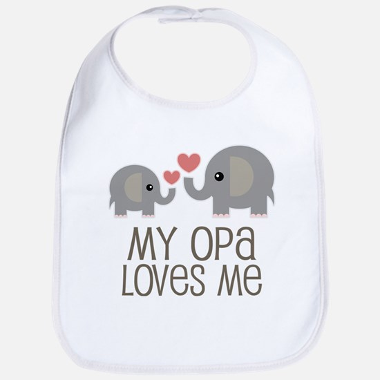 My Opa Loves Me Baby Bib