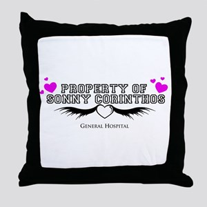 Property of Sonny GH Throw Pillow