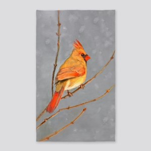Cardinal on Branch Area Rug