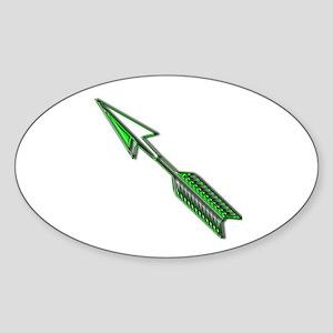 """""""Green Arrow"""" Oval Sticker"""
