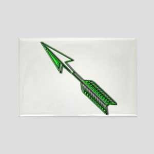 """Green Arrow"" Rectangle Magnet"