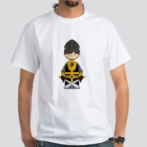 Cute Crusader Knight White T-Shirt